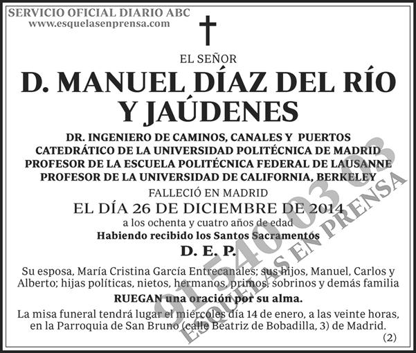Manuel Díaz del Río y Jaúdenes